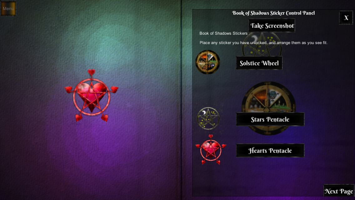 Book of Shadows Screen 1